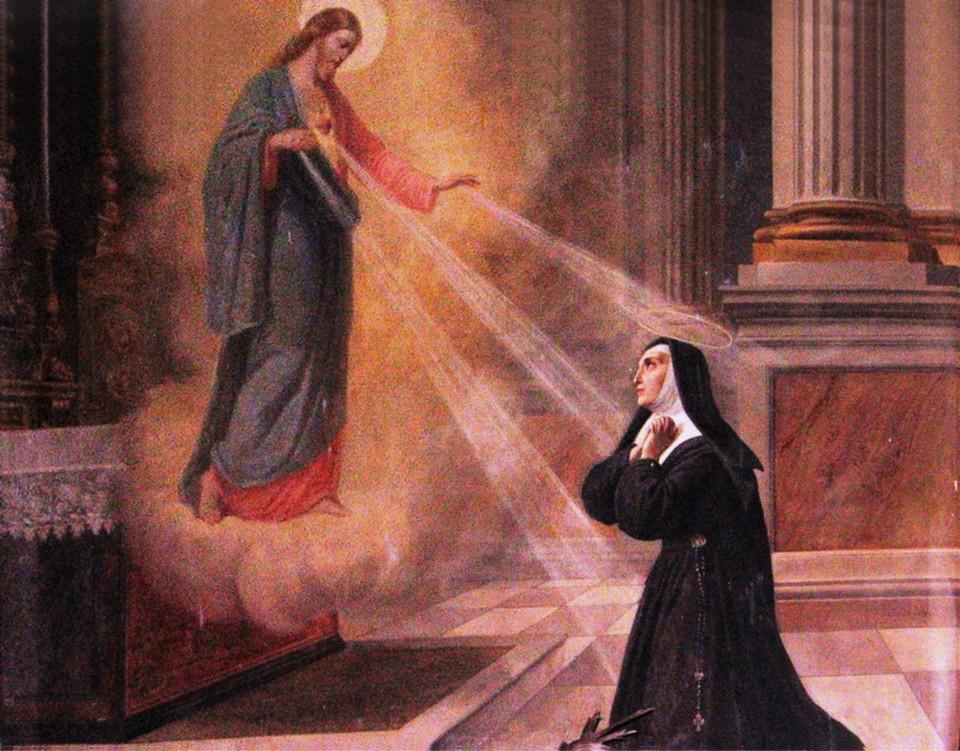 Rodolfo Morgari - Santa Margherita Maria Alacoque e la devozione al Sacro Cuore